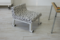 子供椅子(学習椅子)ロンフレンチェア・パピー/ダルメシアン